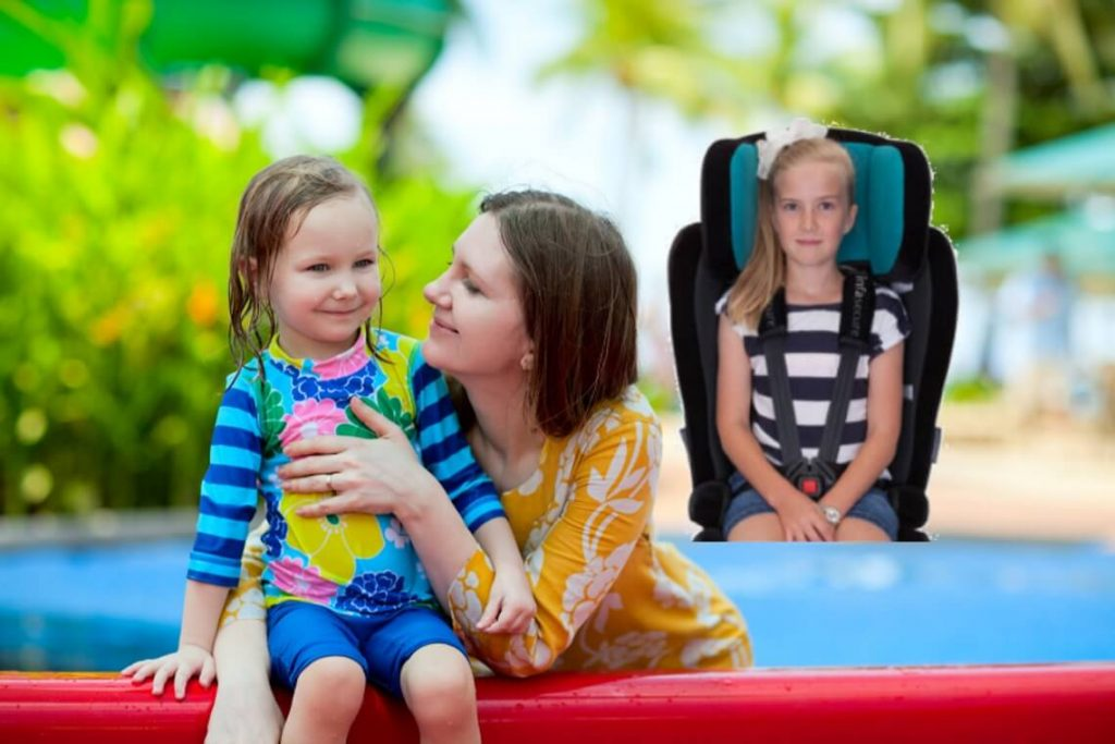 extended harnessing car seat hire