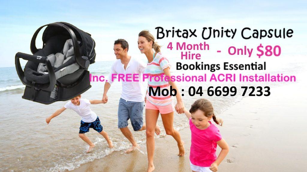 Britax unity capsule hire